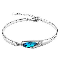 Rp 24.100. Phoenix B2C Wanita Berbalut Perak Crystal Chain Bangle Cuff Charm Gelang ...