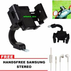 Promo Phone Holder Motor Universal Hp Gps Gratis Handsfree Samsung Universal Murah