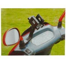Jual Phone Holder Untuk Motor Lubang Spion Hitam Lengkap