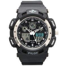 Spesifikasi Pilot Digital Analog Combo Plt H1144 Bl Jam Tangan Pria Resin Hitam Terbaru