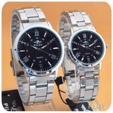 Pilot - Jam Tangan Couple Pria dan Wanita - Design Formal Simple - Fiture Classic - Man & Ladies -