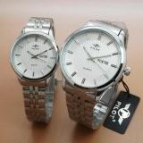 Harga Pilot Pl5904 Jam Tangan Couple Stainless Strap Silver Satu Set