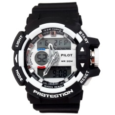 Pilot Waterproof Digital Sport - Jam Tangan Pria - Strap Karet - Hitam Hitam - PLT 1145 BLACKIDR230000. Rp 235.000