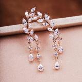Beli Pinannie Cubic Zirkonia Rose Gold Disepuh Stud Earrings Untuk Wanita China Online