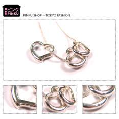 Pinku Shop Open Heart Necklace Original