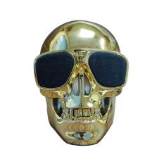 Plastik Skull Metallic Nirkabel Bentuk Bluetooth Speaker Subwoofer Mobile Speaker-Intl