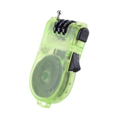 Harga Plastic Transparent Band Retractable Wire Rope Password Lock For Backpack Notebook Green Intl Oem Terbaik