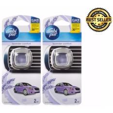 Jual Pengharum Mobil Ambipur Car Vent Clip Lavender Comfort 2Ml 2 Buah Toko Berkah Online Satu Set