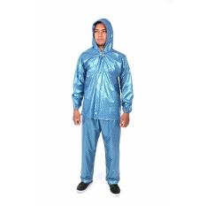 Plevia Jas Hujan Jaket Celana POP Tipe 810 Motif Polkadot - Biru