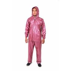 Jual Plevia Jas Hujan Jaket Celana Pop Tipe 810 Motif Polkadot Merah Hati Baru