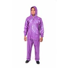 Beli Plevia Jas Hujan Jaket Celana Pop Tipe 810 Motif Polkadot Ungu Pakai Kartu Kredit