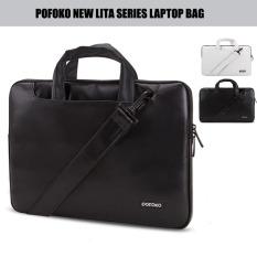 Harga Hemat Pofoko Pu Leather Laptop Case 13 3 Notebook Sleeve Shoulder Messenger For Macbook Air Pro Retina 13 3 Inch Black Intl