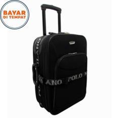 Koper Bahan Koper Murah Koper Polo Milano Size 24 Inchi 209-24 Expandable Import Original - Black