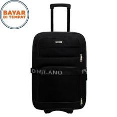 Harga Koper Polo Milano Koper Bahan Ukuran 20 Inchi 208 20 Expandable Import Original Black Termurah