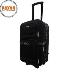 Koper Bahan Koper Murah Koper Polo Milano Size 24 Inchi 208-24 Expandable Import Original - Black