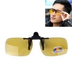 Review Polarized Clip On Flip Klip Plastik Sunglasses Lensa Kacamata Unbreakable Driving Memancing Sports Luar Room Kuning Intl Hong Kong Sar Tiongkok