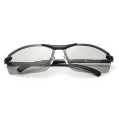 Terpolarisasi Photochromic Sunglass Pria Kolam Mengemudi Transisi Lensa Kacamata Hitam Hitam-Internasional