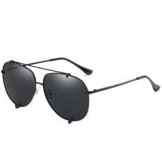 Polarized Sunglasses Fashion Ocean Lens Men & Women Fashion Tombs Retro Sunglasses WD0907-01(Black box full gray) - intl