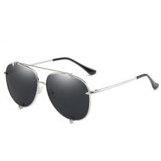 Polarized Sunglasses Fashion Ocean Lens Men & Women Fashion Tombs Retro Sunglasses WD0907-03(Silver frame full gray) - intl