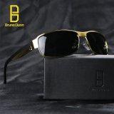 Harga Polarized Sunglasses Pria Klasik Bruno Dunn Merek Designer Sunglasses Pria Mengemudi Polaroid Poin Titanium Frame 8485 Vintage Eyewear Aksesoris Emas Frame Abu Abu Lense Intl Bruno Dunn Ori
