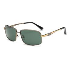 Kacamata Hitam Terpolarisasi Pria Persegi Panjang Greengun Warna Polaroid Lensa Bingkai Titanium Driver Kacamata Merek Desain Pria Oculos-Intl