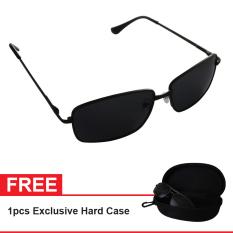 Polarized Sunglasses UV 400 HD Night 007 Free Exclusive Hard Case - Kacamata Pria & Wanita - Hitam