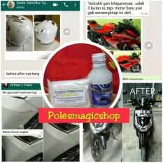 POLES MAGIC Bandung 1 Paket Pengkilap Dan Serbuk Penghilang Lecet Atau Gores Helm Body Kaca Furniture Dll