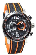 Police - Jam Tangan Pria - Hitam/Orange - Rubber - 14443JSTB-02PA