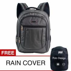 Harga Polo Design Jc 208 09 Backpack Rain Cover Grey Tas Ransel Pria Tas Ransel Wanita Tas Sekolah Polo Design Indonesia