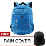 Spesifikasi Polo Design Px1 21003L Backpack Rain Cover Blue Tas Ransel Tas Sekolah Tas Pria Tas Wanita Yang Bagus