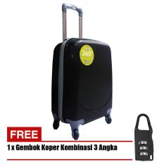 Polo Hoby Koper Hardcase Luggage 18 Inchi 705-18 Anti Theft - Black + Free Padlock Suitcase