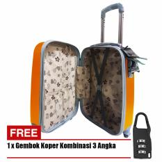 Polo Hoby Koper Hardcase Luggage 24 Inchi 705-24 Anti Theft - Orange + Free Padlock Suitcase