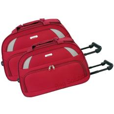 Review Toko Polo Hunter Tas Kabin Trolley Duffle Bag With Trolley Travel Bag Trolly Tas Pria Tas Wanita 591 Set 2 Pcs Size 19 23 Inch Merah