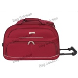 Promo Polo Hunter Tas Kabin Trolley Duffle Bag With Trolley 593 Size 23 Inch Merah Polo Hunter