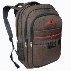 Polo Point Tas Ransel Backpak Laptop Canvas Kombinasi Leather