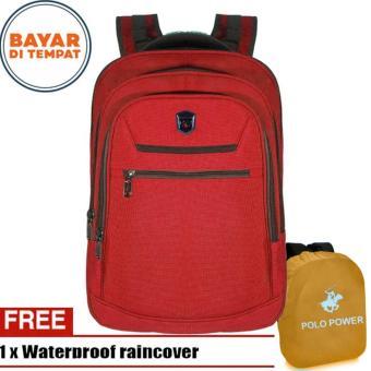 Pencarian Termurah Polo Power Backpack Expandable Import Laptop Compartemen All PP082016 - 18 Blue + Raincover