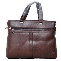 Spek Polo Team Tas Kerja Document Pvc Leather 185 2 Cokelat