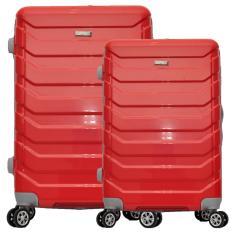 Polo Team Tas Koper Hardcase 4 Roda Putar SET Size 20 + 24 inch 8705- Merah