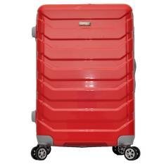 Polo Team Tas Koper Kabin Hardcase 4 Roda Putar Size 20 Inch 8705 Merah Murah
