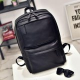 Polo Walker Waterproof Luxury Pu Leather Laptop Notebook Backpack Bags 9802 Black Murah