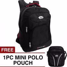 Miliki Segera Poloclub Central Backpack Free Mini Poloclub Pouch Selempang