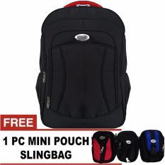 PoloClub Edward Laptop Backpack Up To 14 Inch + FREE 1 Mini HP Pouch Slingbag Random / Tas Pria / Tas Wanita / Tas Laptop / Tas Sekolah / Ransel Pria / Ransel Wanita / Ransel Sekolah / Ransel Murah