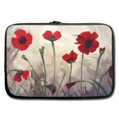 Spesifikasi Poppy Flowers Painting Theme Soft Water Proof Neoprene Carrying Laptop Case Sleeve Bag For Macbook Macbook Air Pro 13 Inch Notebook Cover Intl Murah