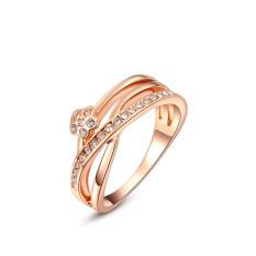 Populer Baru Tiga Garis Platinum Diamond Engagement Pernikahan Perhiasan Cincin (Platinum Warna)