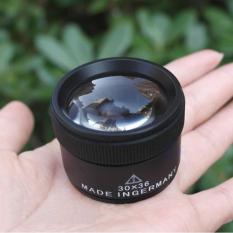 Portabel 30x36mm Optik Loupes Lensa Pembesar Mikroskop Saku Loop Kaca Pembesar