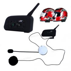 Portable Bluetooth Motorcycle Helmet Intercom for 6 Motor Riders(Not Specified) - Intl