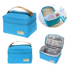 Isolasi Termal Portabel Bento Kotak Makan Siang Piknik Pendingin Mati (biru) By Crystalawaking.