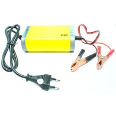 Harga Portable Motorcrycle Car Battery Charger 12V 2A Yellow Oem Ori