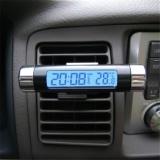 Harga Portable Baru 2 In 1 Mobil Auto Lcd Display Clip On Digital Biru Backlight Thermometer Waktu Clock Intl Origin