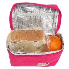 Portable Tahan Air Termal Terisolasi Makan Siang Casing Perjalanan Piknik Tote Penyimpanan Kotak Rose Red Hong Kong Sar Tiongkok